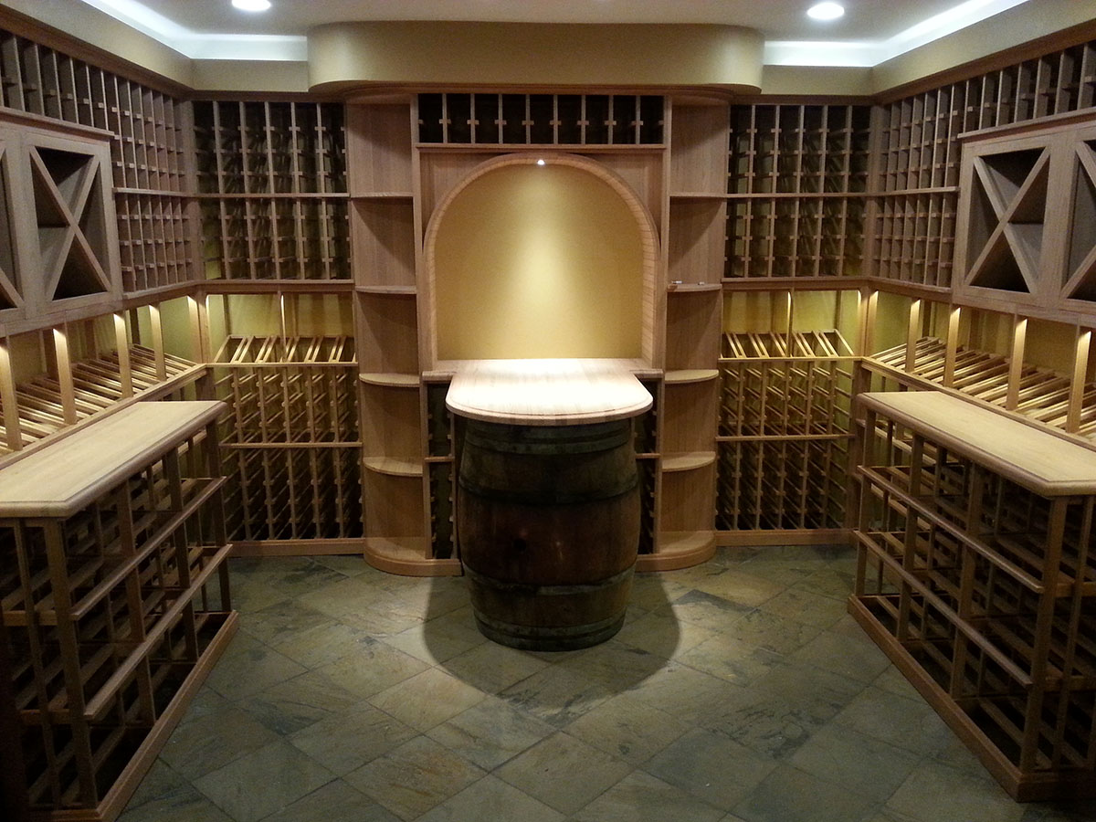 home wine room lighting effect. A Curved Soffit And Shelves With Indirect Valence Lighting Accents The Counter Barrel Radius In This 1,600 Bottle Lexington Wine Cellar. Home Room Effect I