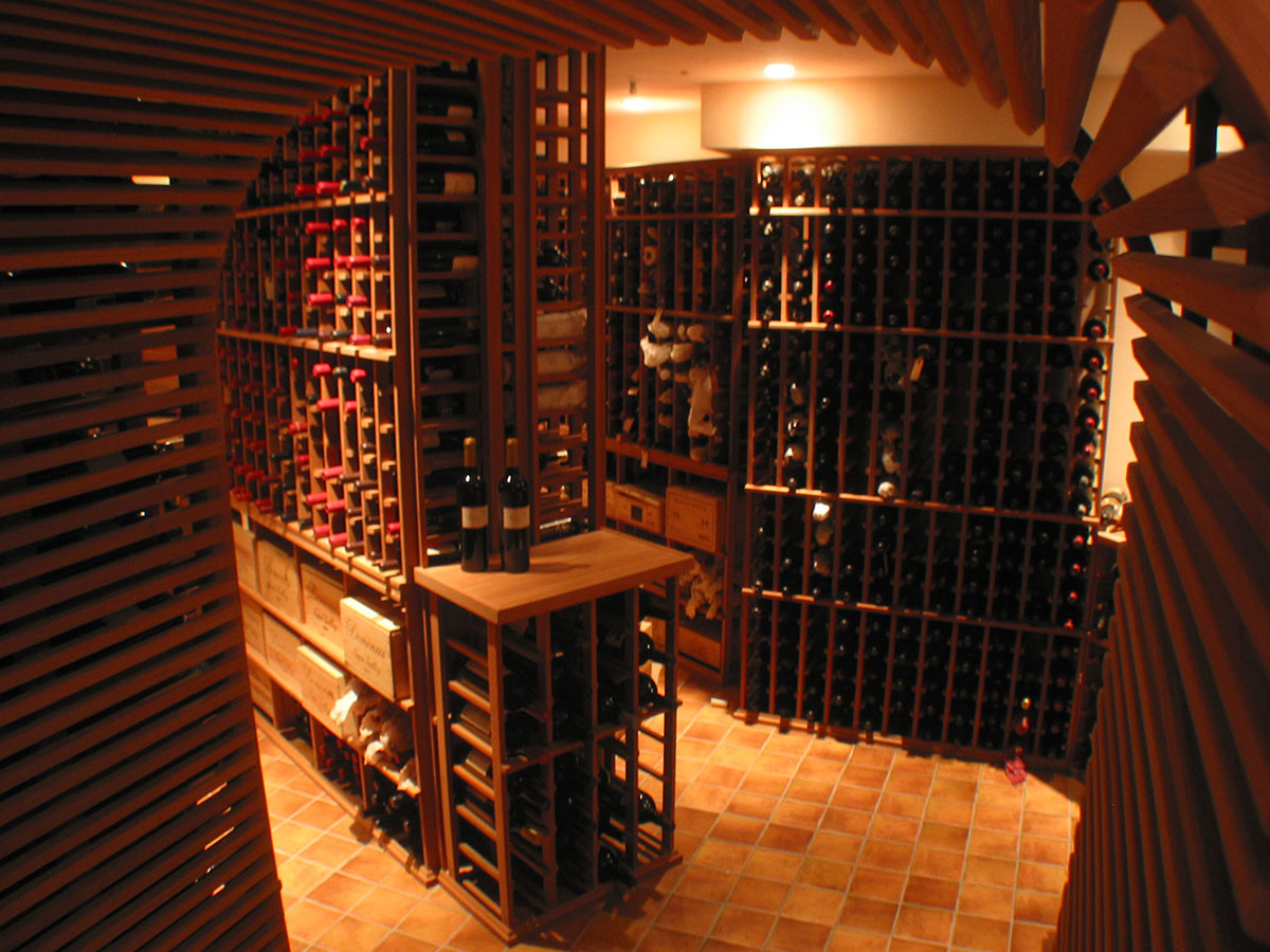 Our wine cellars for Wine cellar in floor